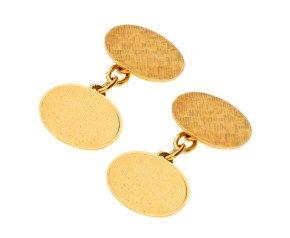 Vintage 1964 9ct Yellow Gold Chain Link Cufflinks