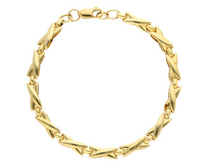 Pre-Owned Yellow Gold Cross Patterned Bracelet