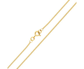 18ct Yellow Gold 1.20mm Filed Curb Chain