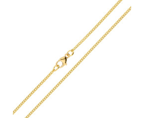 18ct Yellow Gold 1.59mm Filed Curb Chain
