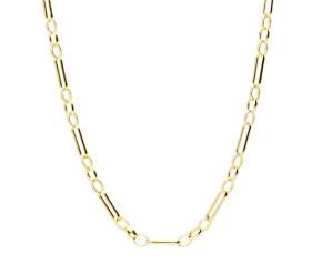 9ct Yellow Gold 2.93mm Figaro Belcher Chain