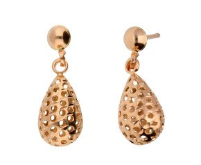 9ct Rose Gold Pierced Drop Earrings