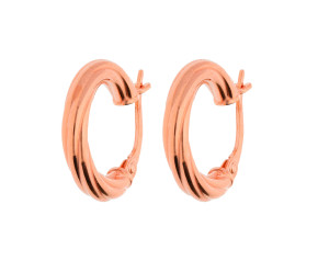 9ct Rose Gold Twisted Creole Earrings