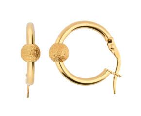 9ct Yellow Gold 13mm Hoop Earrings