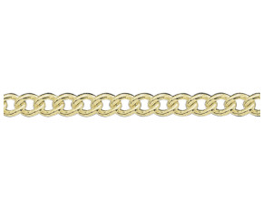 18ct Yellow Gold 5.03mm Curb Chain- 20 Inches