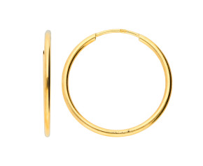9ct Yellow Gold 20mm Fine Sleeper Hoop Earrings