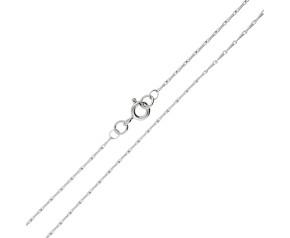18ct White Gold 1.13mm Barleycorn Chain