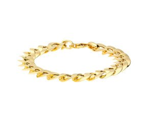 9ct Yellow Gold 11mm Curb Link Bracelet