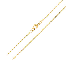 18ct Yellow Gold 1.46mm Close Link Filed Trace Chain