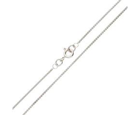 18ct White Gold 1.08mm Spiga Chain