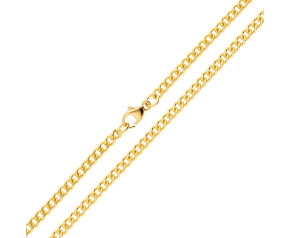 18ct Yellow Gold 2.88mm Curb Chain