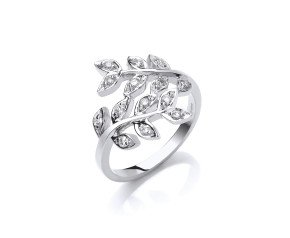 9ct White Gold 0.25ct Diamond Flower Ring