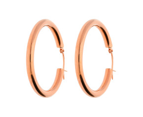 9ct Rose Gold Hoop 30mm Hoop Earrings