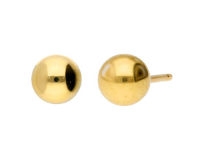 18ct Yellow Gold 5mm Ball Stud Earrings