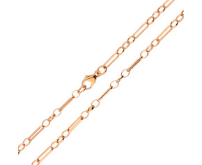 9ct Rose Gold 2.93mm Figaro Belcher Chain