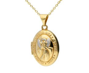 9ct Yellow Gold Guardian Angel Locket