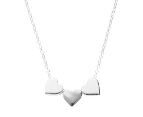 Sterling Silver Triple Heart Necklace