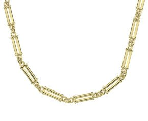 18ct Gold Double Round Pillar Chain Necklace