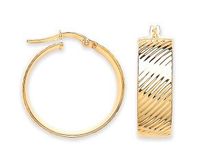 9ct Yellow Gold 23mm Hoop Earrings