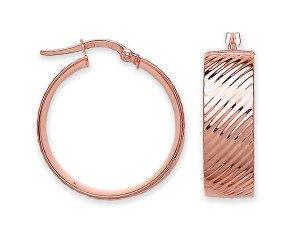 9ct Rose Gold Hoop Earrings