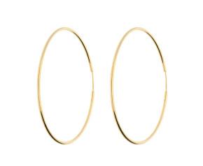 9ct Yellow Gold 53mms Large Sleeper Hoop Earrings