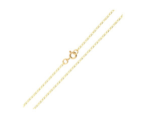 9ct Yellow Gold Oval Link 1.84mm Belcher Chain