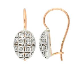 Handcrafted Italian 0.10ct Diamond Cluster Earrings