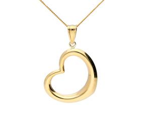 9ct Yellow Gold Openwork Heart Pendant