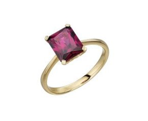 9ct Yellow Gold & Rhodolite Garnet Ring