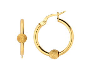 9ct Yellow Gold 16mm Hoop Earrings