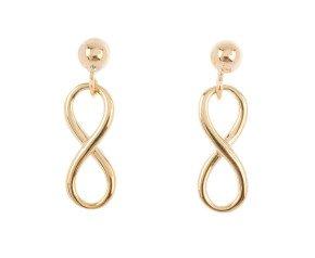 9ct Gold Infinity Drop Earrings
