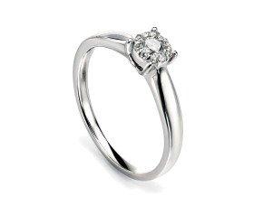 9ct White Gold Diamond Cluster Dress Ring