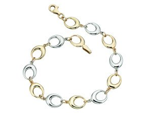 9ct White & Yellow Gold Bracelet