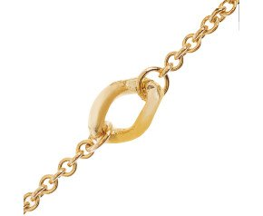 9ct Gold Trace & Curb Fancy Chain Necklace