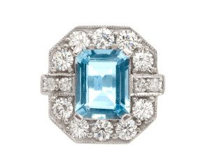 2.00ct Aquamarine & Diamond Cocktail Ring