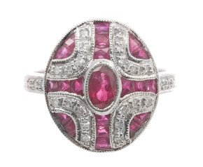 1.39ct Ruby & Diamond Ring