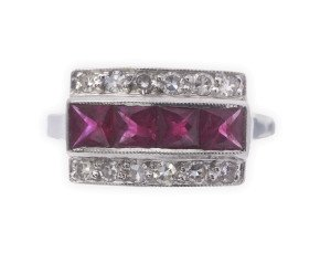 Pre-Owned 0.25ct Ruby & Diamond Dress Ring