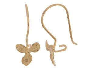 18ct Gold Vermeil Orchid Drop Earrings