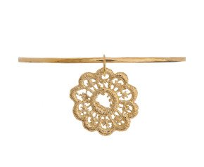 18ct Gold Vermeil Lace Drop Bangle