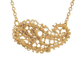 18ct Gold Vermeil Lace Paisley Necklace