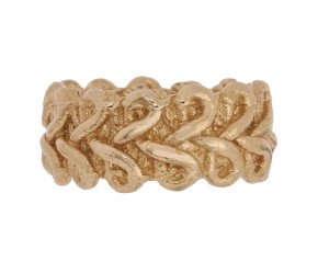 18ct Gold Vermeil Lace Braid Ring