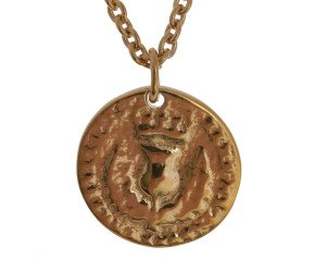 18ct Gold Vermeil Medium Bawbee Coin Necklace