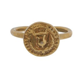18ct Gold Vermeil Bawbee Coin Ring