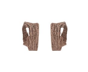 18ct Rose Gold Vermeil Bark Studs