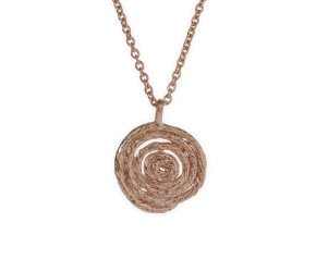 18ct Rose Gold Vermeil Coiled String Necklace