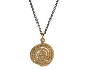 18ct Gold Vermeil & Black Rhodium Coiled String Necklace