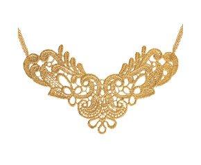 18ct Gold Vermeil Lace Large Neckpiece