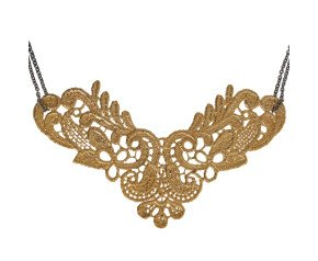 18ct Gold Vermeil & Black Rhodium Lace Large Neckpiece