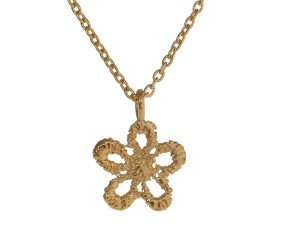 18ct Gold Vermeil Lace Daisy Necklace