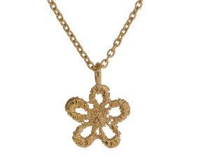 18ct Gold Vermeil Lace Daisy Necklace